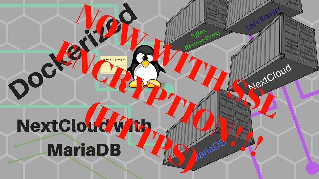 Dockerized NextCloud with Maria DB behind a Nginx Reverse Proxy With SSL  Encryption