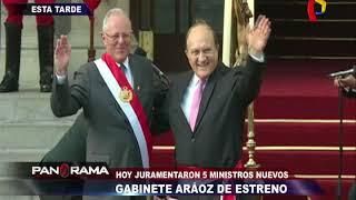 Gabinete 'Aráoz' de estreno: Hoy juramentaron 5 nuevos ministros