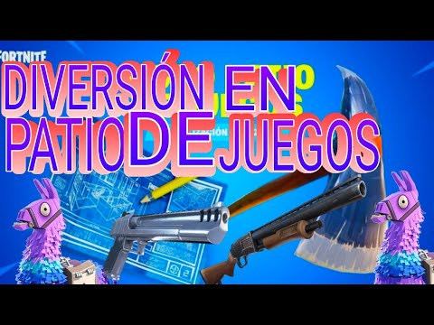 Diversion En Patio De Juegos Fortnite Battle Royal Ps4 Youtube