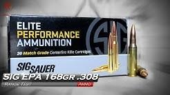 SIG Elite Performance Ammunition 168gr .308 Ammo Test