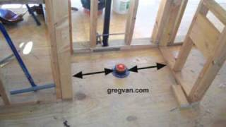 Critical Wall Measurements Around Your Toilet - Rough Framing Tips