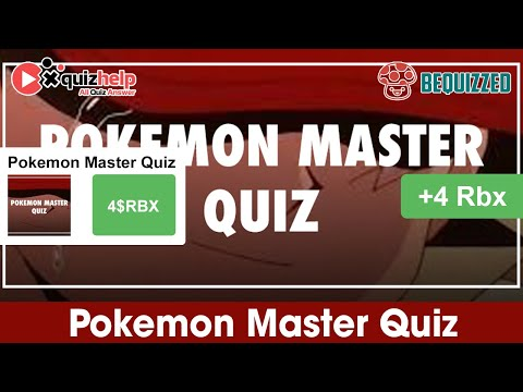 Pokemon Master Quiz Answers 100%   Bequizzed   QuizHelp.Top