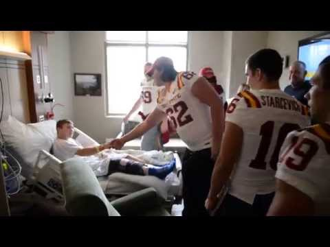 Iowa State Football Visits Mary Greeley Medical Center