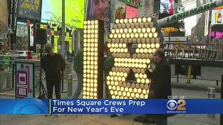 Times Square Crews Prep For New Year's Eve