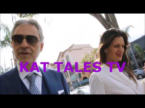 Andrea Bocelli & Veronica Berti Chat with KAT 12/06/16