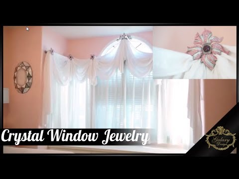 Crystal Window Jewelry - Dazzling Drapery Hardware with Bling | Galaxy Design Video #157