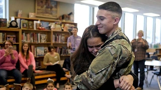 Best Welcome Homecoming Soldier Surprise Home Compilation 11