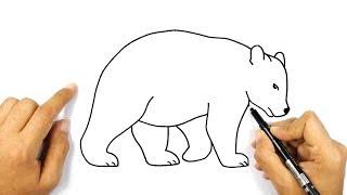رسم دب خطوة بخطوة للمبتدئين كيف ترسم دب تعليم الرسم Youtube