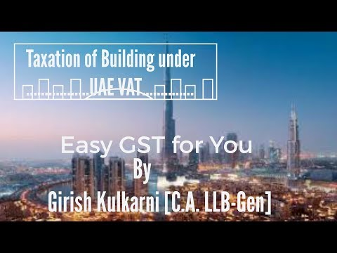 UAE VAT on Building (Real Estate)