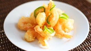 Готовлю креветки tempura (в японском кляре)