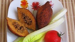 İçli köfte. Котлеты с начинкой (Ичли кёфте), турецкая кухня.(Чтобы увидеть полное описание, нажмите надпись