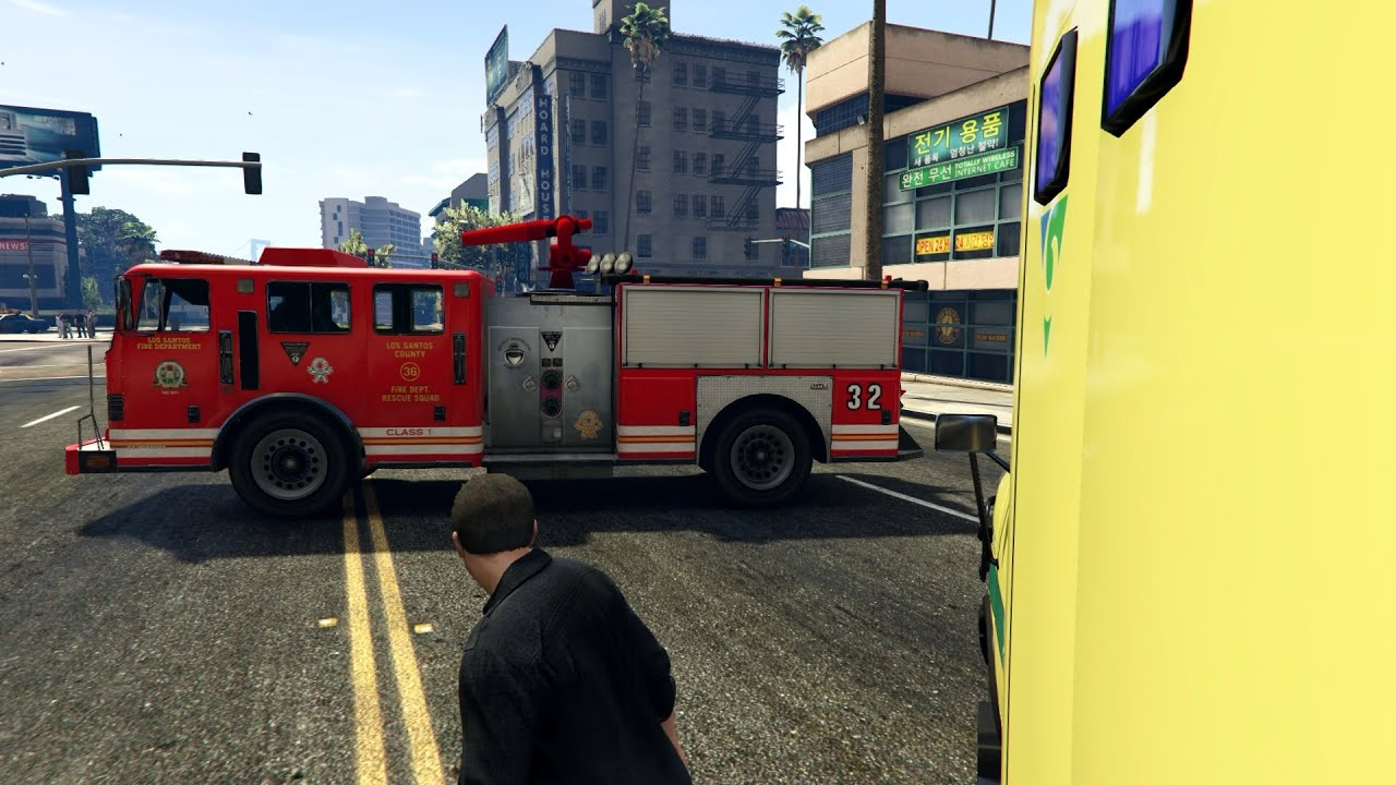 gta v sir ne deux tons pompiers french fire service siren youtube. Black Bedroom Furniture Sets. Home Design Ideas