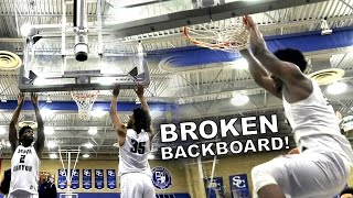 Cody Riley BREAKS (And Fixes) Backboard with Dunk! | BROKEN RIM DUNK! | BallerVisions