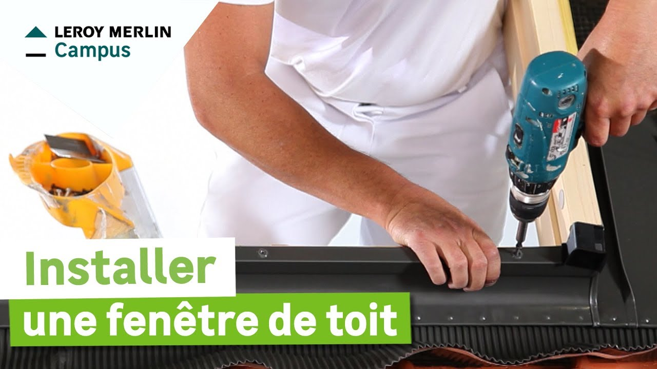 Comment installer une fen tre de toit leroy merlin youtube for Chevetre fenetre de toit