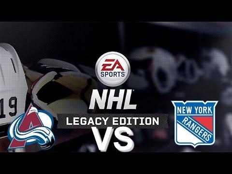 NHL Legacy Edition PS3 Colorado Avalanche VS New York Rangers