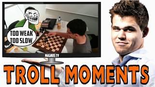 3 Times Magnus Carlsen went into HILARIOUS TROLL MODE | Magnus Carlsen Trolling Compilation