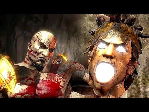 God of War 3 Kratos Destroy Hera - Helios and Hephaestus Ruthless Kills