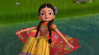 Vana, Vana Vastondi - Rain Song | Telugu Rhymes for Children | Infobells