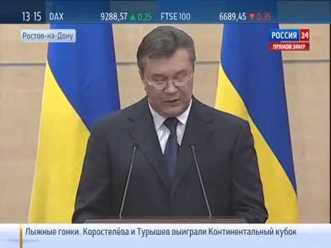 Viktor Yanukovych  Press conference in Rostov 11 03 14