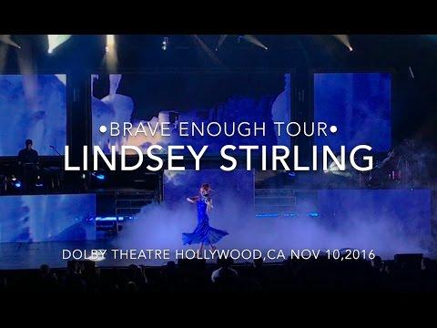 LINDSEY STIRLING BRAVE ENOUGH TOUR CONCERT DOLBY THEATRE HOLLYWOOD VLOG 111016