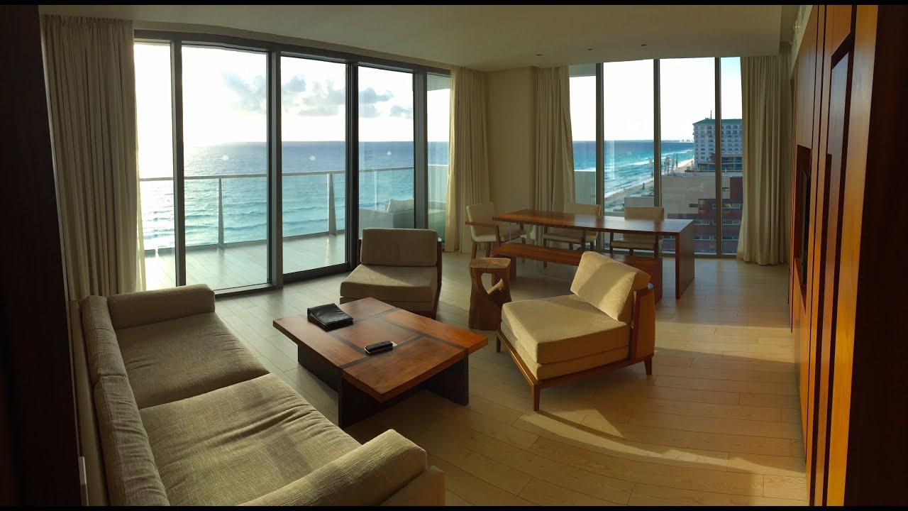 Secrets The Vine Cancun Master Suite Ocean Front Room 4K HD