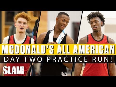 4be41223e104 Nico Mannion RUNNING THE SHOW in McDonald s All American Day 2 Practice‼ 🍔
