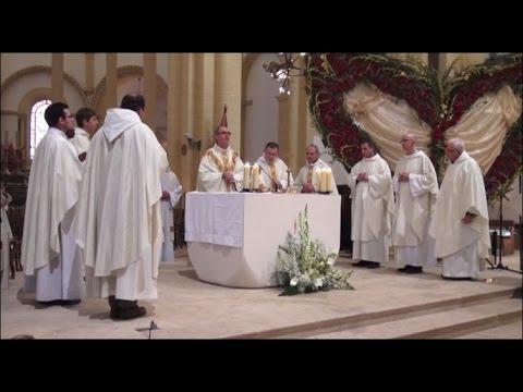 Messe , Fête de Ste Marguerite Marie ,Basilique de Paray le Monial 18 octobre 2015