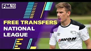 FM20 Free Transfers National League | Best Football Manager 2020 Free Transfers LLM