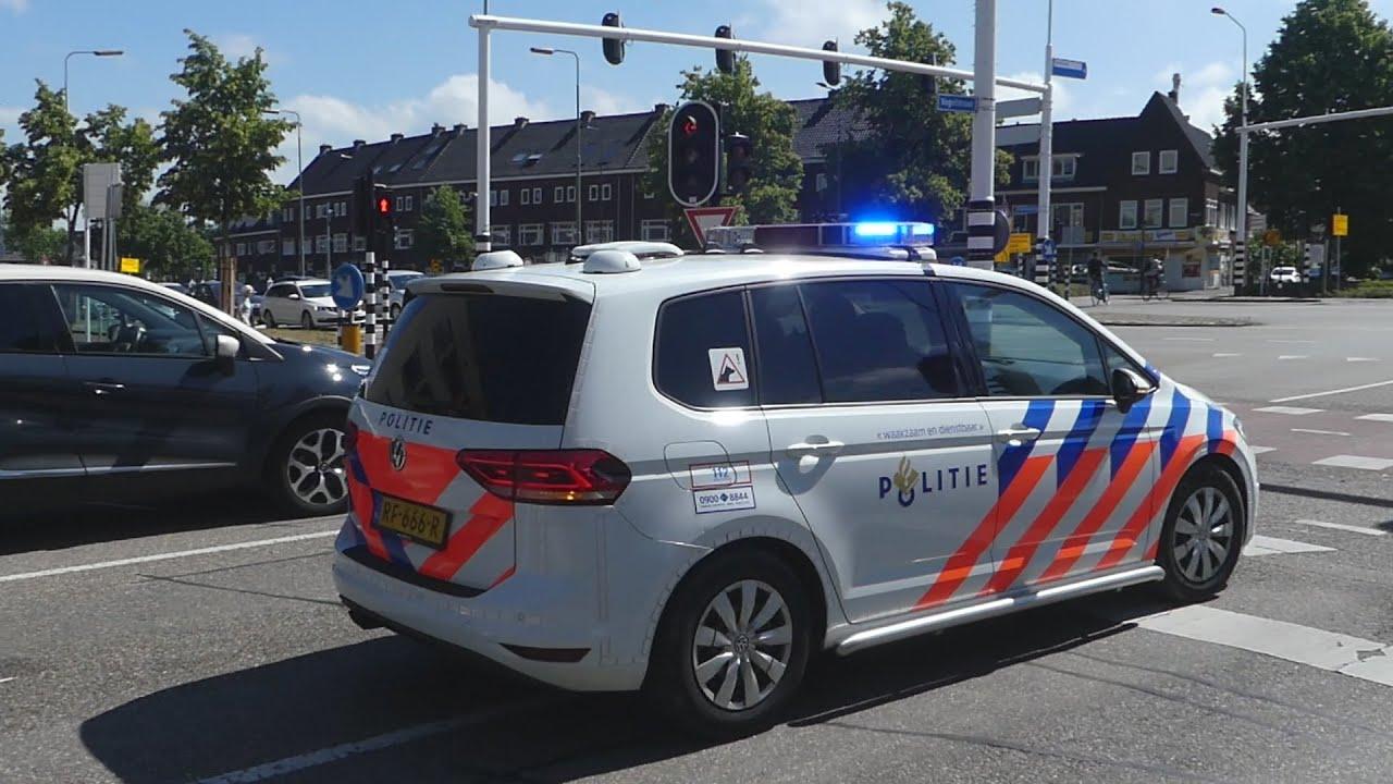 Politie zet groots in bij antiracisme demonstratie in Den Bosch + Politie hondengeleider met spoed