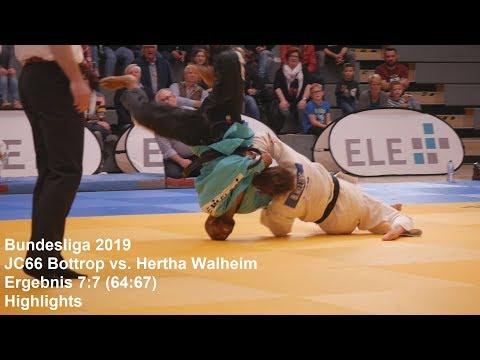 Judo || Bundesliga 2019 JC66 Bottrop vs. Hertha Walheim (7:7 [64:67])