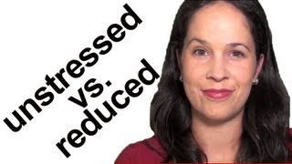 American English Word Stress:  Unstressed vs Reduced syllables