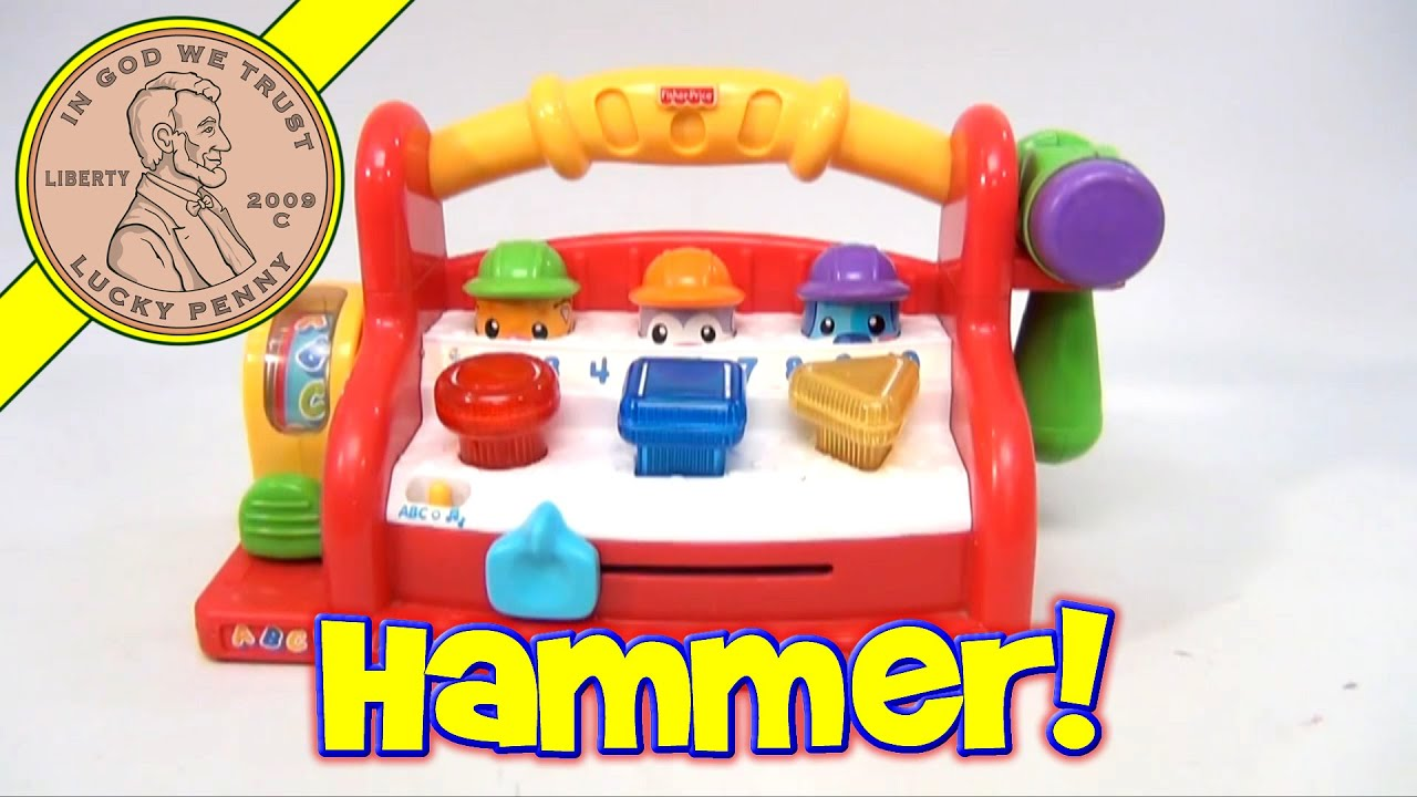 Fisher price laugh and learn musical light up learning tool bench baby toy youtube Fisher price tool bench