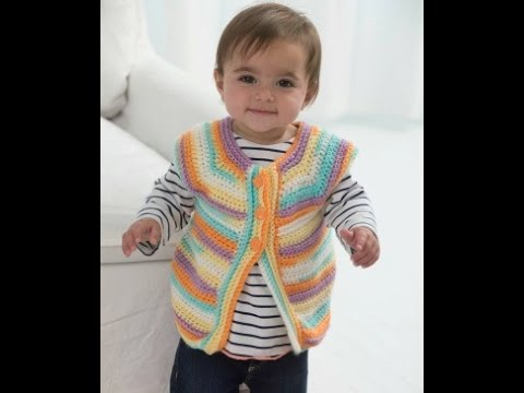 How To Crochet One Skein Baby Vest Lion Brand Pattern Video One