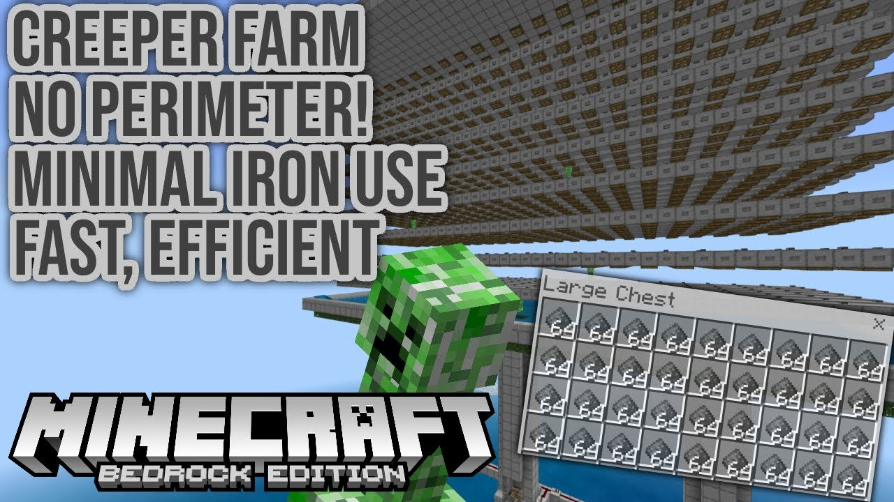 Affordable Efficient Creeper Only Farm For Minecraft Bedrock