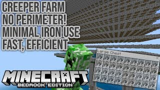Affordable, Efficient Creeper Only Farm for Minecraft Bedrock Tutorial 1.16