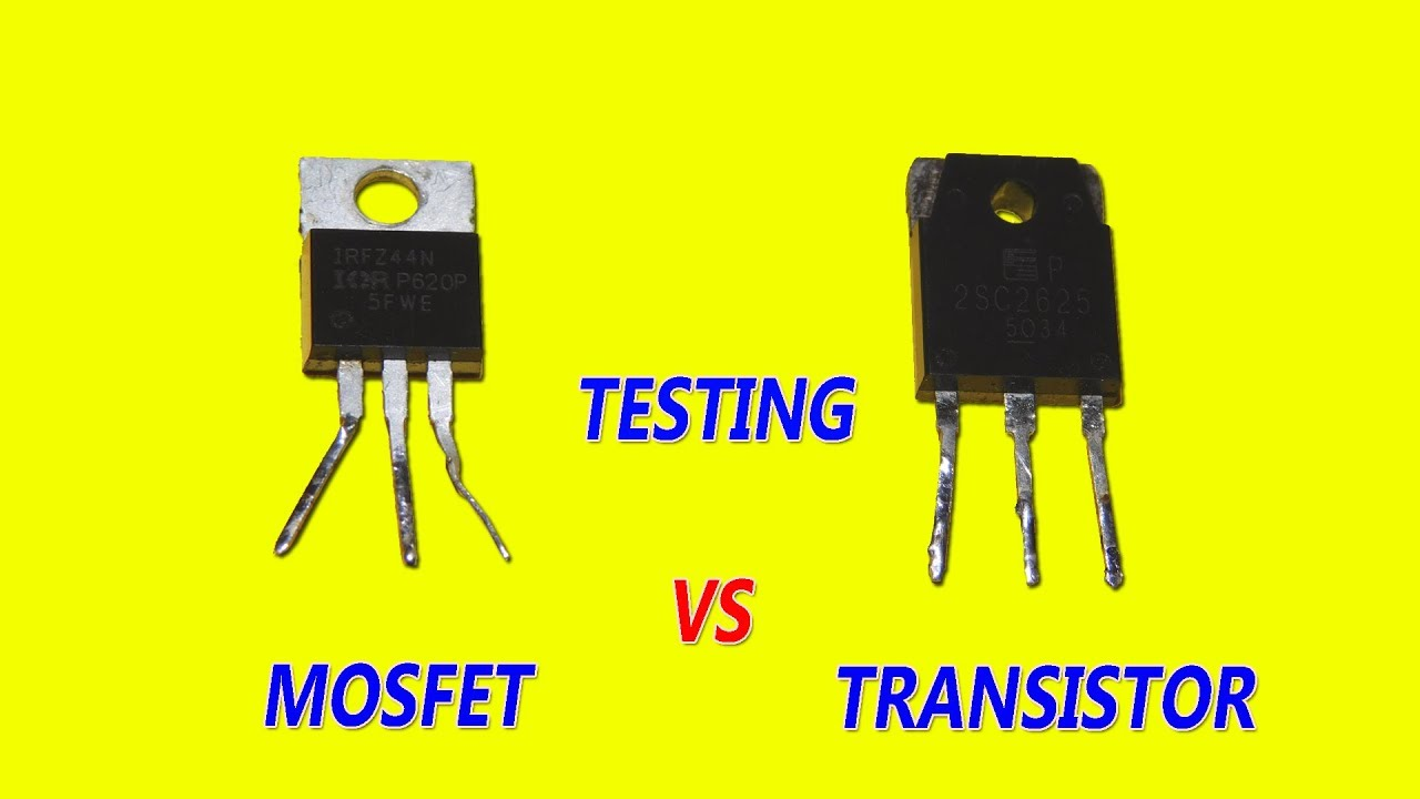Mosfet Vs Transistor Testing Difference Youtube Circuit