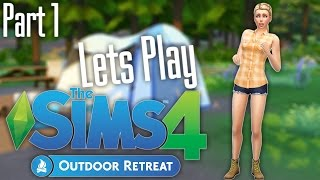 Lets Play: The Sims 4 Outdoor Retreat (Part 1) Vacation time!
