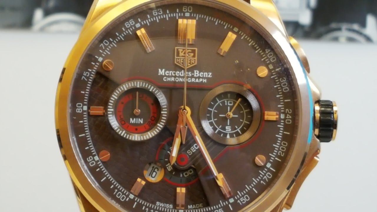 Tag heuer mercedes benz sls youtube for Mercedes benz tag heuer watch
