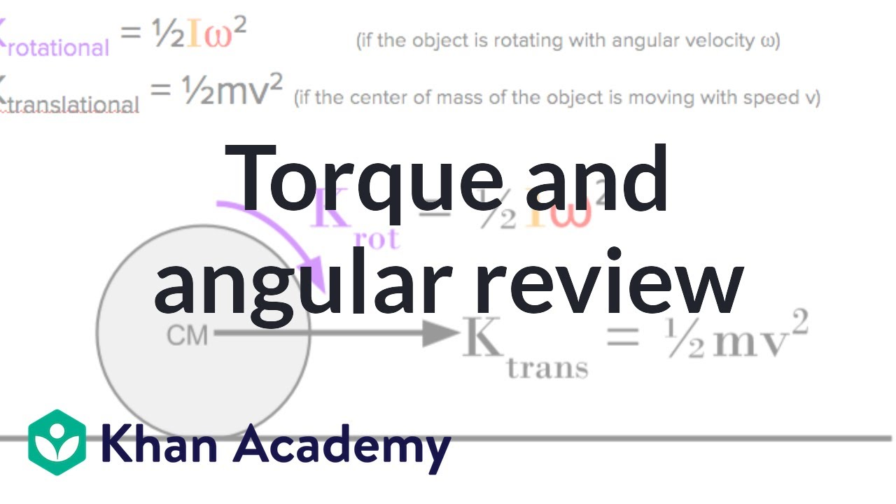 AP Physics 1 review of Torque and Angular momentum (video