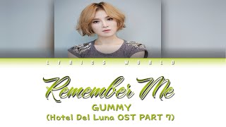 Gummy (거미) - Remember Me [Color Coded Lyrics (HAN/ROM/ENG)]