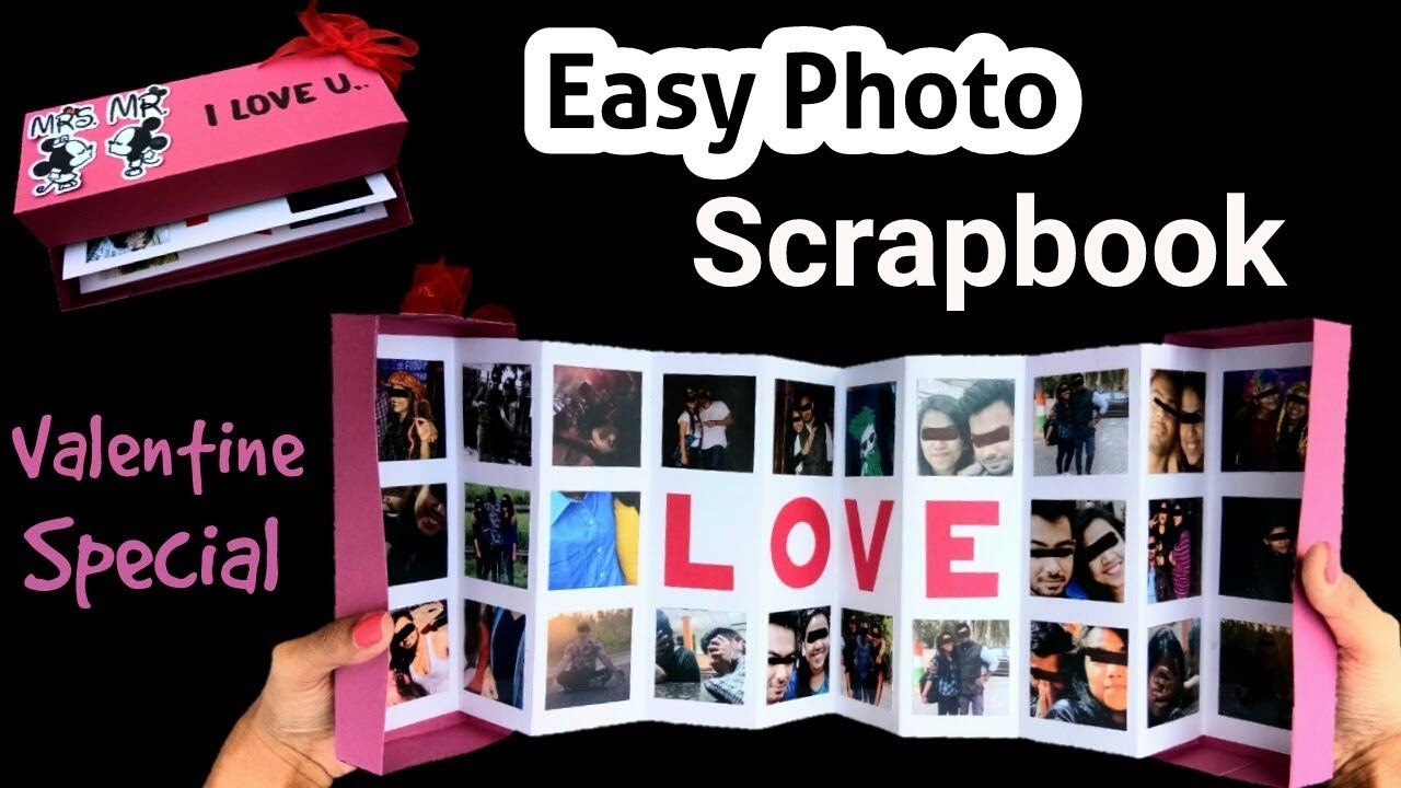 how to make easy photo scrapbook mother day card pop up youtube