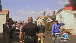 Explosion at Cypress mobile home park caught on camera | ABC7