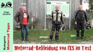 Drei verschiedene Outfits (Urban, Sport und Adventure) von IXS Motorcycle Fashion im Praxis-Test, alle drei bin ich in den vergangenen Monaten ausgiebig mit ...