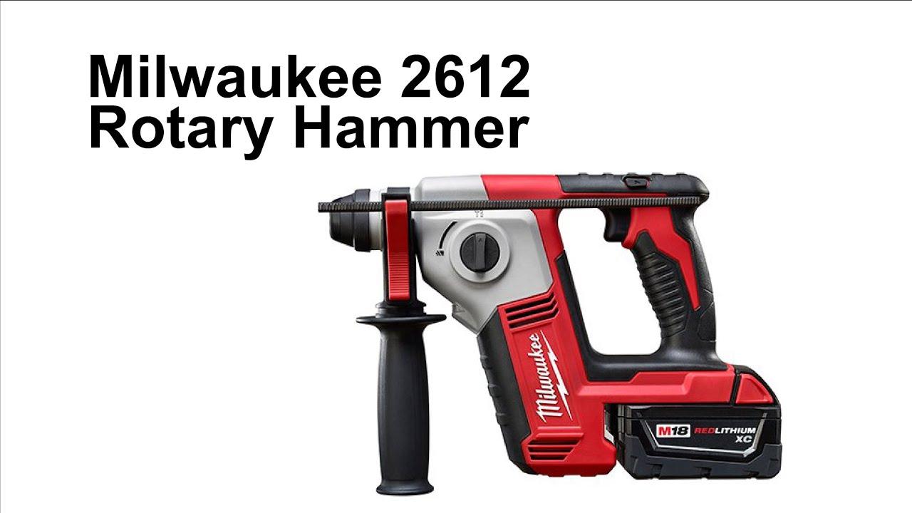 roto hammer milwaukee. milwaukee 2612 rotary hammer drill roto