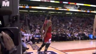 Derrick Rose Dunks - What are you doing Dragic? thumbnail