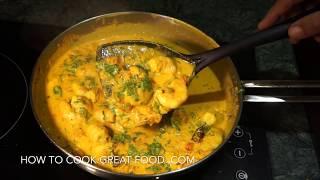 Prawn Curry - Shrimp Masala Recipe - Coconut milk