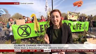 """Baixar BBC News Live - """"5th day of demonstrations against climate change"""" - Extinction Rebellion (Apr 19th)"""