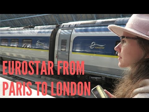 Taking The EUROSTAR From PARIS To LONDON