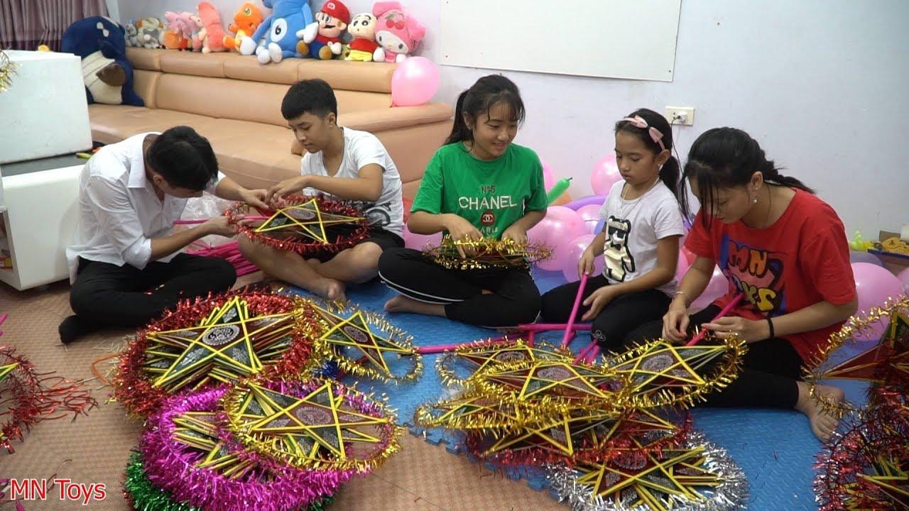 Chuẩn Bị 100 Chiếc Đèn Ông Sao Tặng Quà Cho Các Em Nhỏ Vui Tết Trung Thu - MN Toys