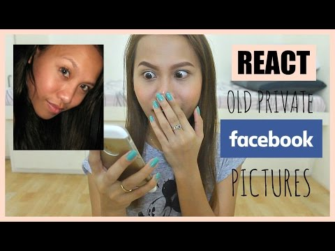 REACTING To My OLD PRIVATE Facebook Pictures (Philippines)   Rhaze